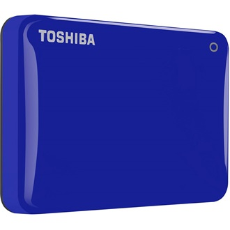 "Toshiba Külső HDD 2.5"" - 1TB Canvio Connect II Kék (USB3.0; ~5Gbps; NTFS/HFS+; fényes; 10 GB Cloud Storage)"