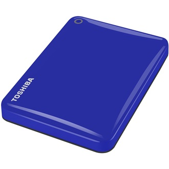 "Toshiba Külső HDD 2.5"" - 2TB Canvio Connect II Kék (USB3.0; ~5Gbps; NTFS/HFS+; fényes; 10 GB Cloud Storage)"