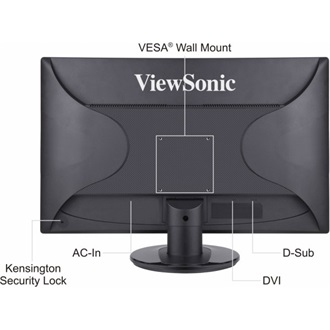 "Viewsonic VA2246-LED 21.5"" LED monitor fekete"