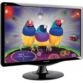 "Viewsonic VA2232W-LED 22"" LED monitor fekete"