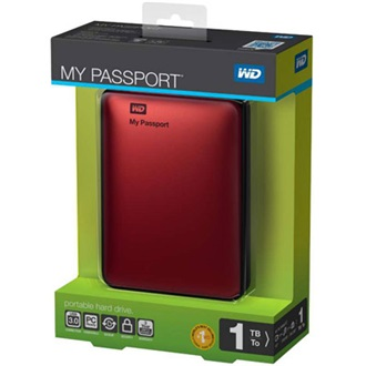 "Western Digital My Passport 1000GB USB3.0 2,5"" külső HDD piros"
