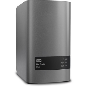 "Western Digital My Book Duo 8000GB USB3.0 3,5"" külső HDD (hardware encryption) ezüst"