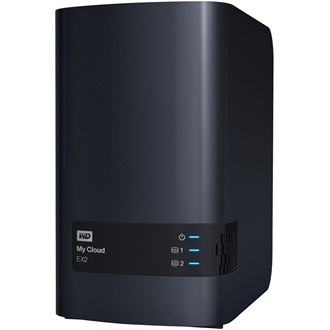 "Western Digital My Cloud EX2 3.5"" SATA3 USB3.0 NAS fekete"