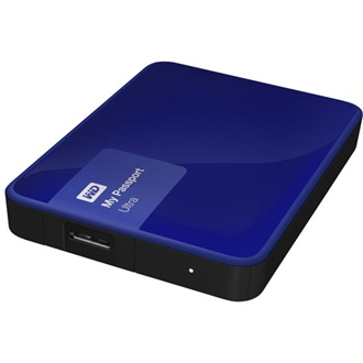 "Western Digital My Passport Ultra 1000GB 5400rpm USB3.0 2,5"" külső HDD (hardware encryption) kék"