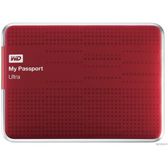 "Western Digital My Passport Ultra 500GB USB3.0 2,5"" külső HDD piros"