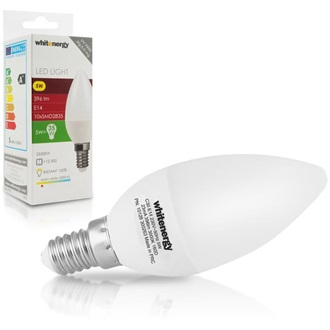 Whitenergy | E14 | 10 SMD 2835 | 5W | 230V | tej | C30 LED izzó