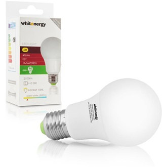 Whitenergy | E27 | 11 SMD 2835 | 6W | 230V | tej | A60 LED izzó