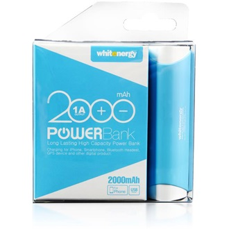 Whitenergy Power Bank 2000mAh Li-Ion 1A  kék