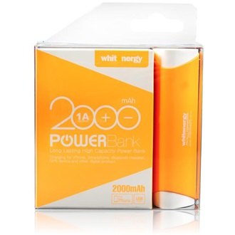 Whitenergy Power Bank 2000mAh Li-Ion 1A  narancs