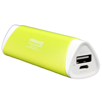 Whitenergy Power Bank 2000mAh Li-Ion 1A  zöld