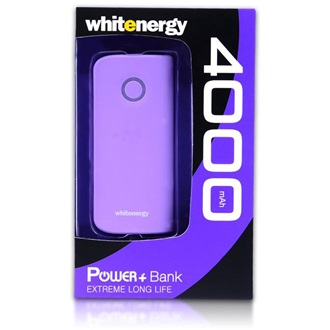 Whitenergy Power Bank 4000mAh Li-Ion 1-2.1A  ibolya
