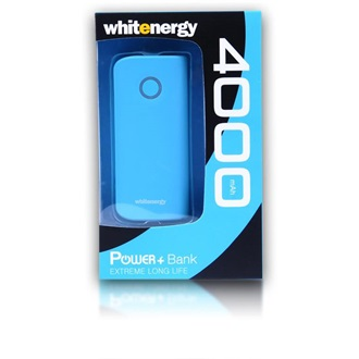 Whitenergy Power Bank 4000mAh Li-Ion 1-2.1A  kék