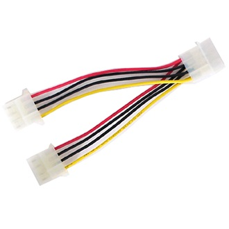 OEM Molex Power 4pin -> 2 Molex Power 4pin M/F tápkábel