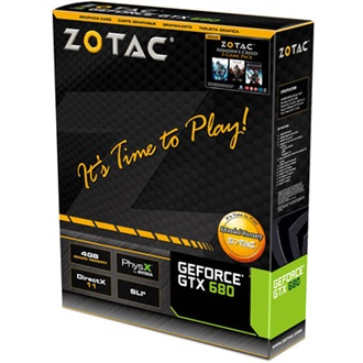 ZOTAC Geforce GTX680 4GB GDDR5 256bit PCI-E x16