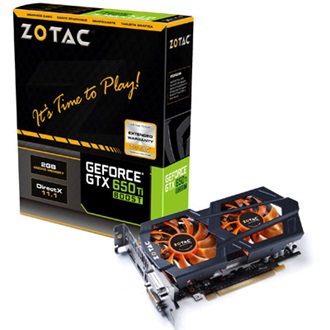 ZOTAC Geforce GTX650 Ti Boost 2GB GDDR5 192bit PCI-E x16
