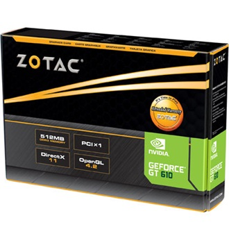 Zotac GeForce GT 610 512MB GDDR3 64bit low profile PCI-E x1