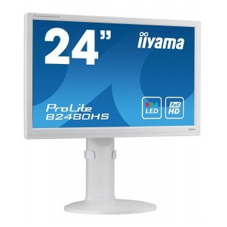 "iiyama 23.6"" Prolite B2480HS-W1 Full HD, 2ms, HDMI, DVI, speakers, white"