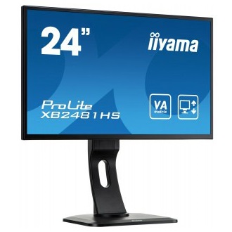 "iiyama 23.6"" Prolite XB2481HS-B1 Full HD, 6ms, DVI-D, HDMI, speakers, black"