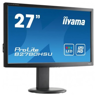 "iiyama 27"" Prolite B2780HSU-B1 Full HD, 2ms, HDMI, USB, speakers"
