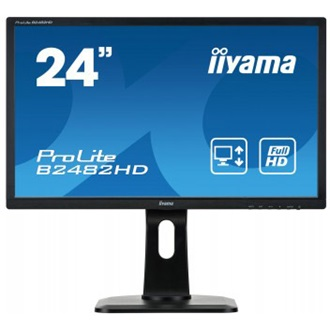 "iiyama Prolite B2482HD-B1 23.6"", TN LED, Full HD, 5ms, VGA, DVI-D, speakers"